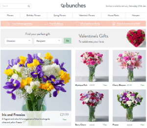 bunches flowers by post