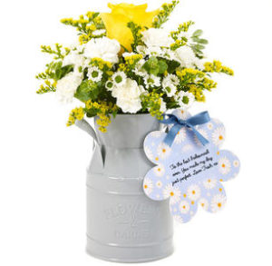 sainsburys flowers by post? try these flower churns
