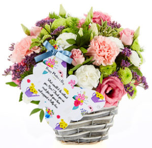 next flowers by post alternative - flower basket by flowercard